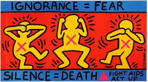 Keith Haring Act Up artwork
