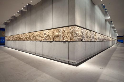 View of the west and south frieze © Acropolis Museum