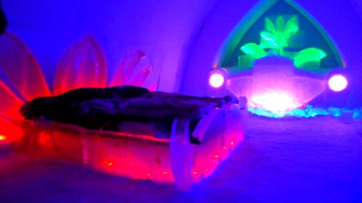 Chill out area at The Snowhotel