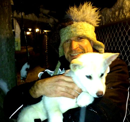 A husky puppy and Stewart Who?