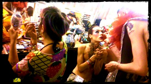 Backstage dressing room, NYC Downlow, Glastonbury