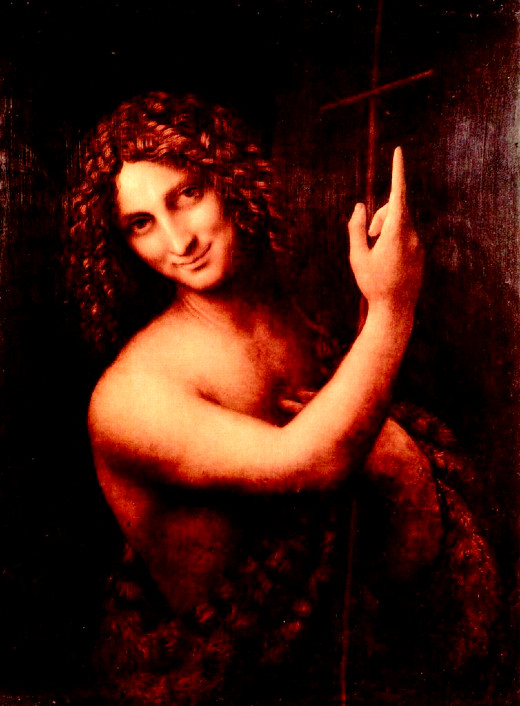 John the Baptist by Leonardo da Vinci